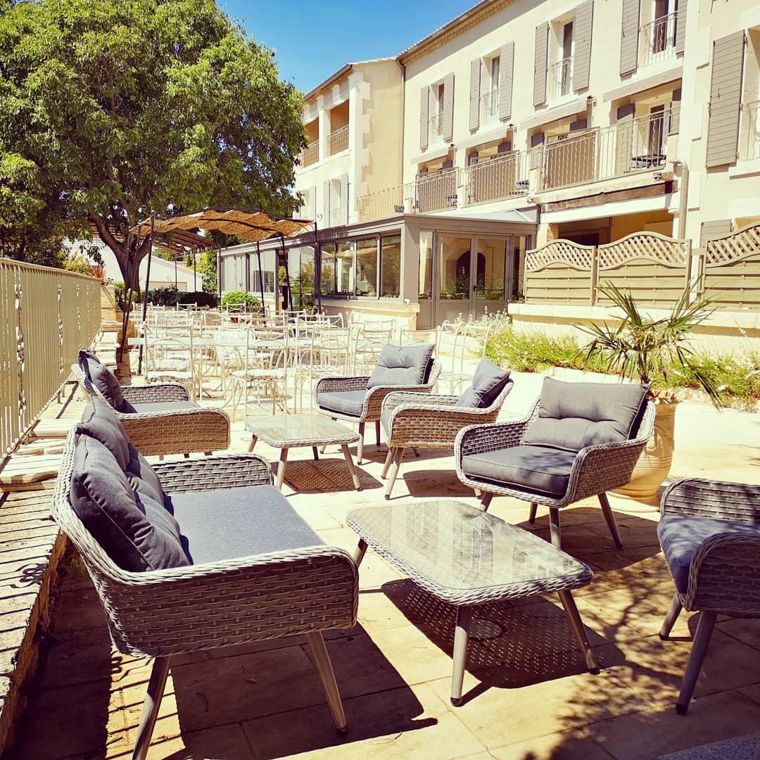 terrasse, week end en Provence, hotel Alpilles, hotel Belesso